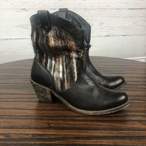 boc Faux Fur Ankle Boots Brown 6
